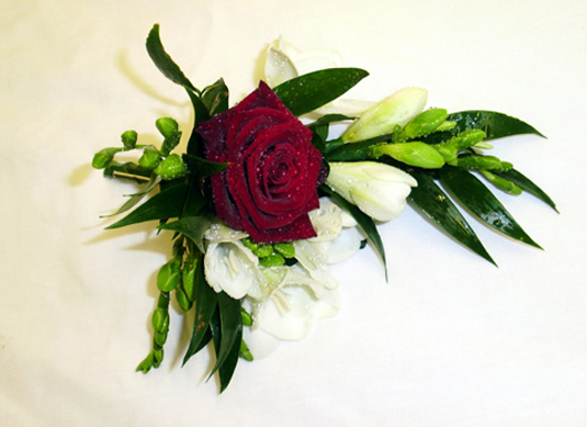 Rose & Freesia Corsage