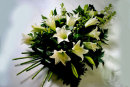 White Funeral Lily Spray: £85.00