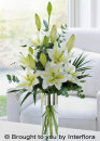 White Scented Lily Vase - LARGE: £47.00