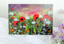 "Greetings Card: ""Wild Poppy Meadow"": £3.00"