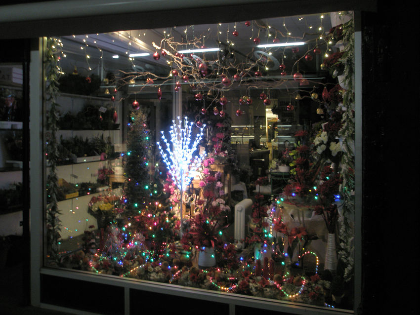 Our Shop Christmas Window Display