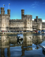 Blue Sky Over Caernarfon Castle