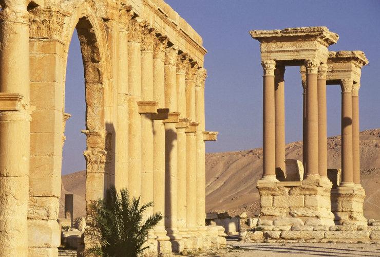Central Avenue & Tetrapylon, Palmyra (Tadmor), Syria