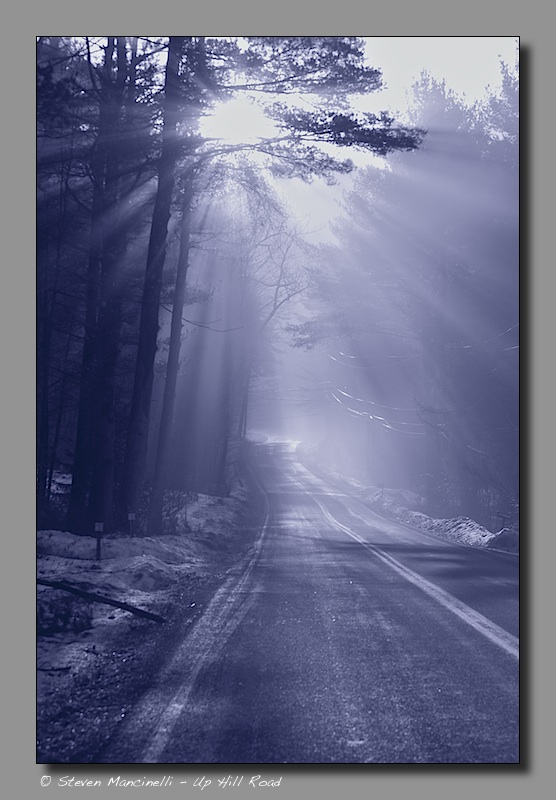 Uphill Road , Winter Sun