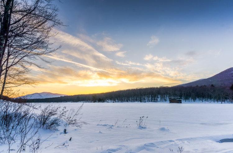 February Sunset, Kenozia Lake