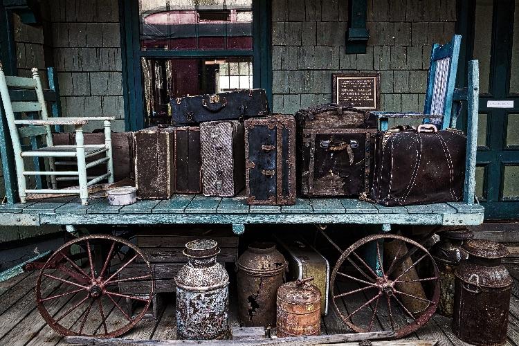 Forgotten Luggage, Phoenicia Train Station 1899