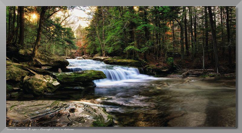 Roaringkill Falls in Autumn