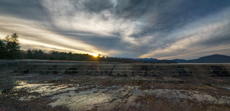 Sunset On Ashokan Spillway