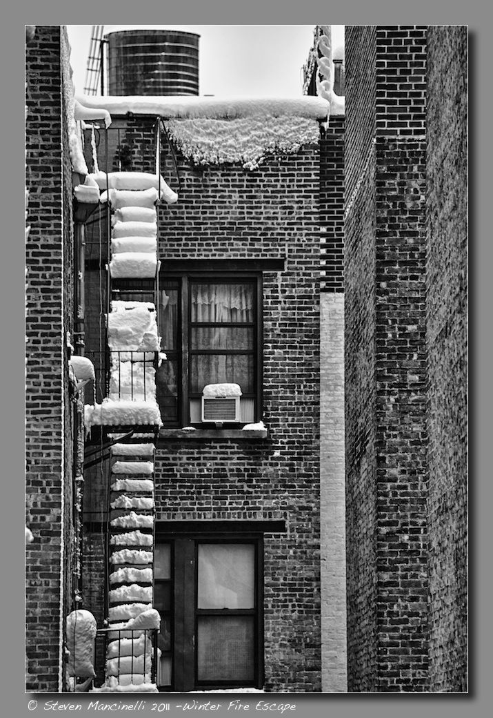 Winter Fire Escape