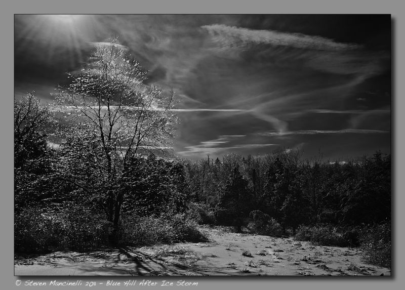 Blue Hill After Ice Storm