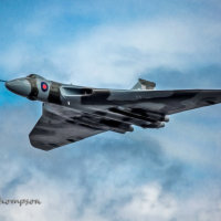 Vulcan over Cleethorpes