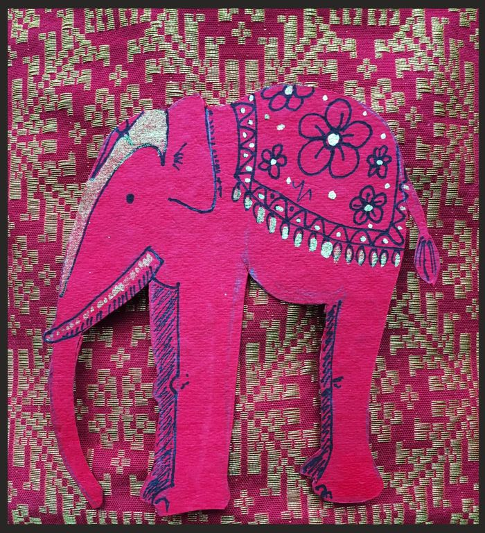 Red, Indian Elephant