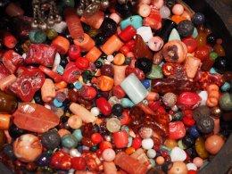 Pink and Orange Beads