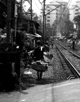 Railway Seller B&W