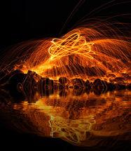 Burning Steel Wool No1