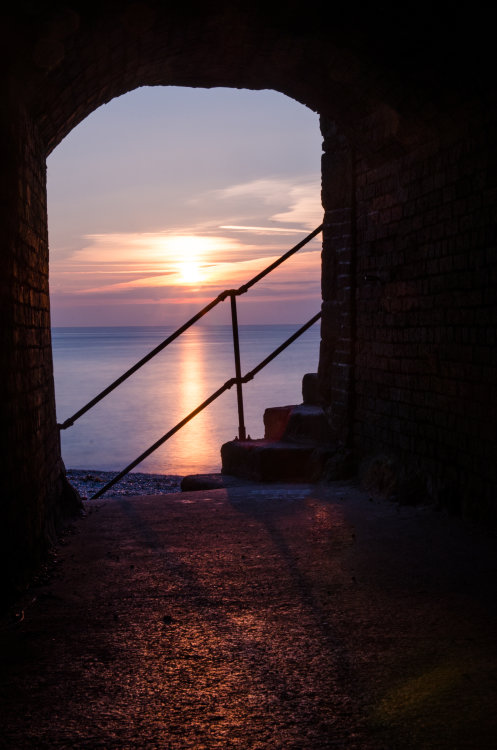 Sunrise through the tunnel