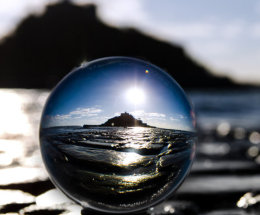 St Michael's Mount Through the Crystal.