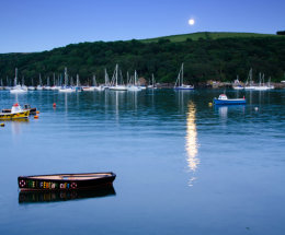 Moon rise over the River Fowey