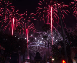 Fireworks to Star Wars sound track