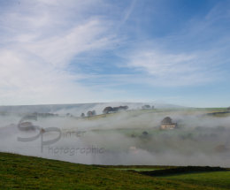 Early morning fog in the Holme Valley.