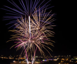 Fireworks over Newquay Harbour