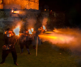Nighttime Musket Volley Fire