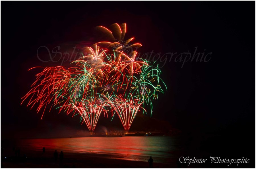 Fireworks at St Michael's Mount No2