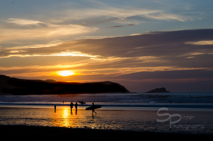 Surfing Sunset  Number 1