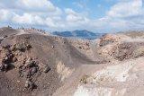 The volcanic centre of the caldera