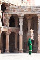 Tourist at Qutb Minar