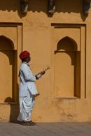 Musician at the Amber Fort