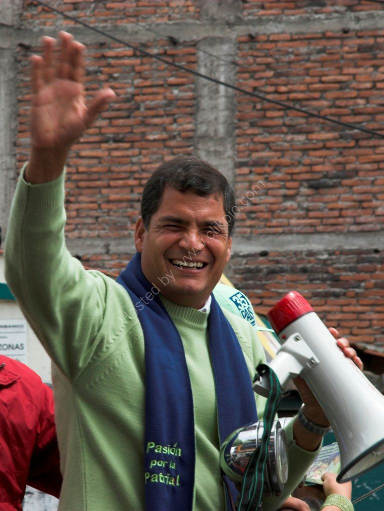The then presidential candidate (now Presidente) Correa
