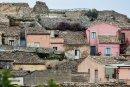 Houses on a hillside...