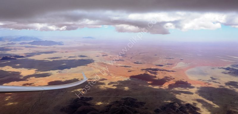 Looking west to the Namib desert