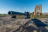 "Restored WW2 6"" battery gun at Tynemouth Castle & Priory"