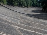 Section of the Brooklands banked race circuit
