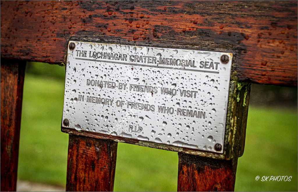 Lochnagar Crater Memorial Seat.