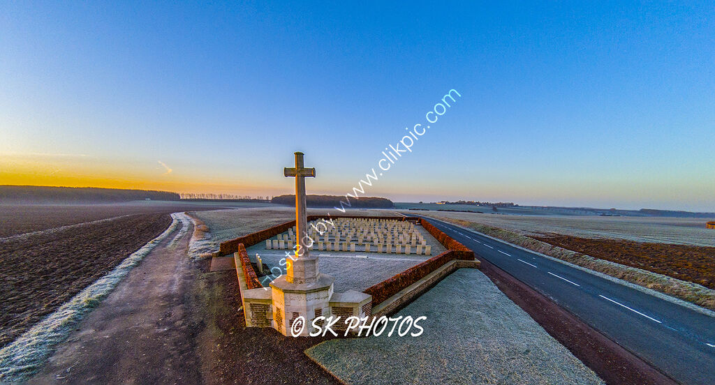Longueval Road Cemetery, Somme.