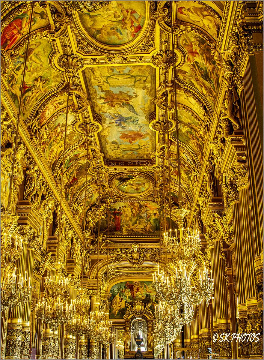 The Grand Foyer at the Palais Garnier, Paris Opera.