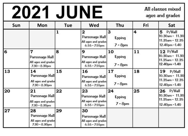 June classes