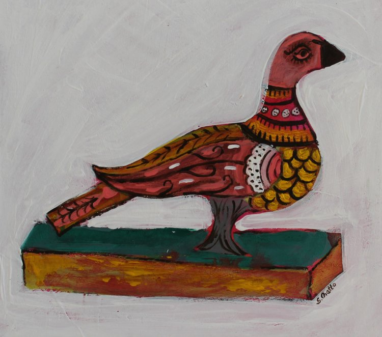 Folk art bird SOLD
