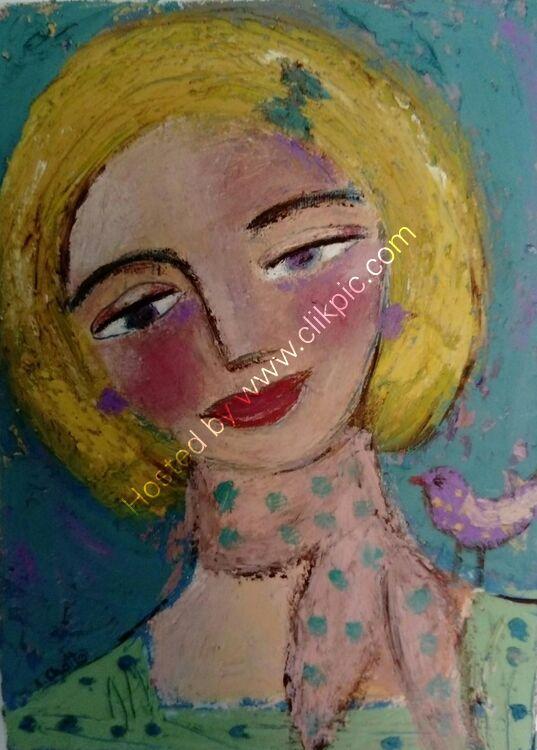Little Friend Oil on Canvas SOLD