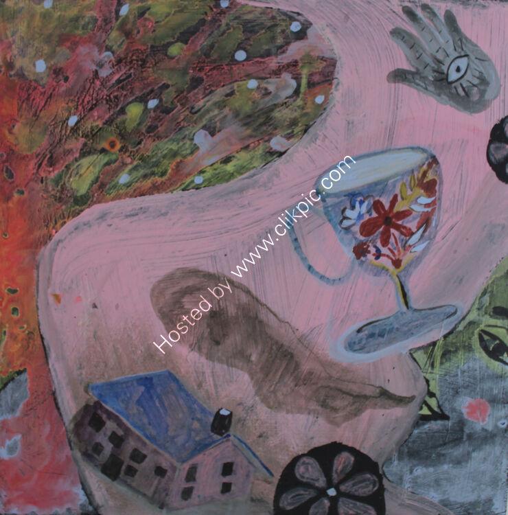 Pink Dreams Acrylic on Panel 30 x 30 cm