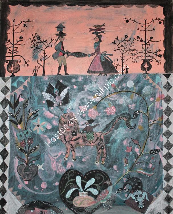 Story Tellers Dream Acrylic on Panel 40 x 50 cm