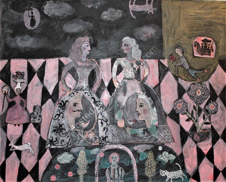 Little Girls Dream Acrylic On Panel 40x50cm