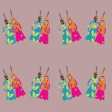 Indian puppet pattern design