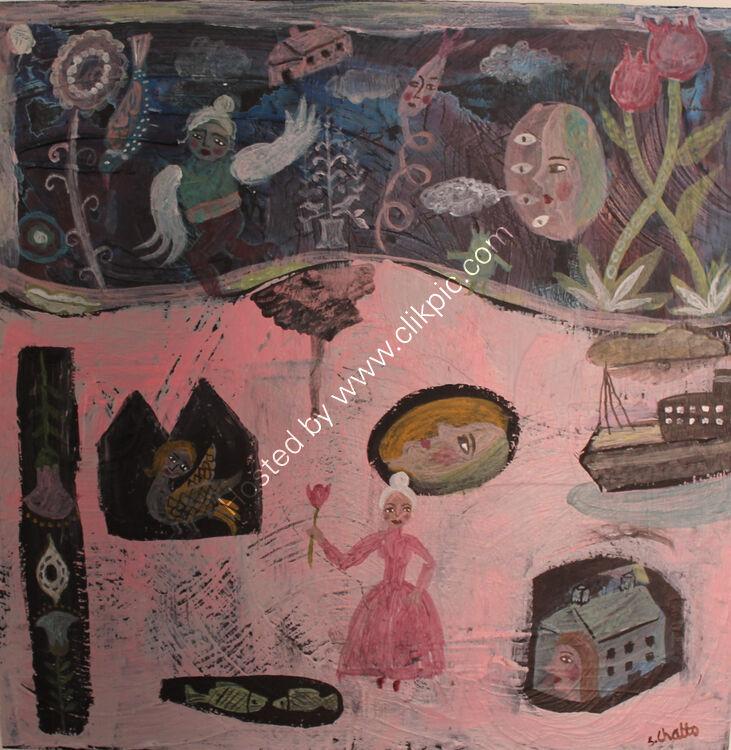 Wanderlust Acrylic On Panel 30 x 30 cm SOLD