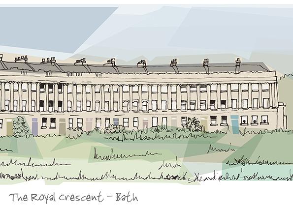 The Royal Crescent - Bath