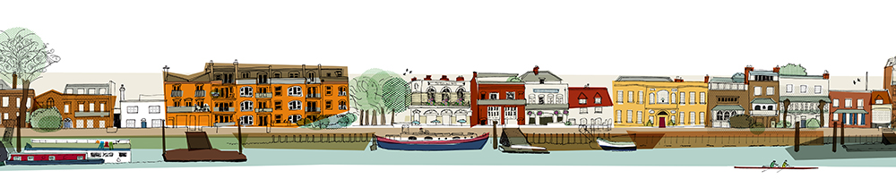 Pubs on the Thames at Hammersmith