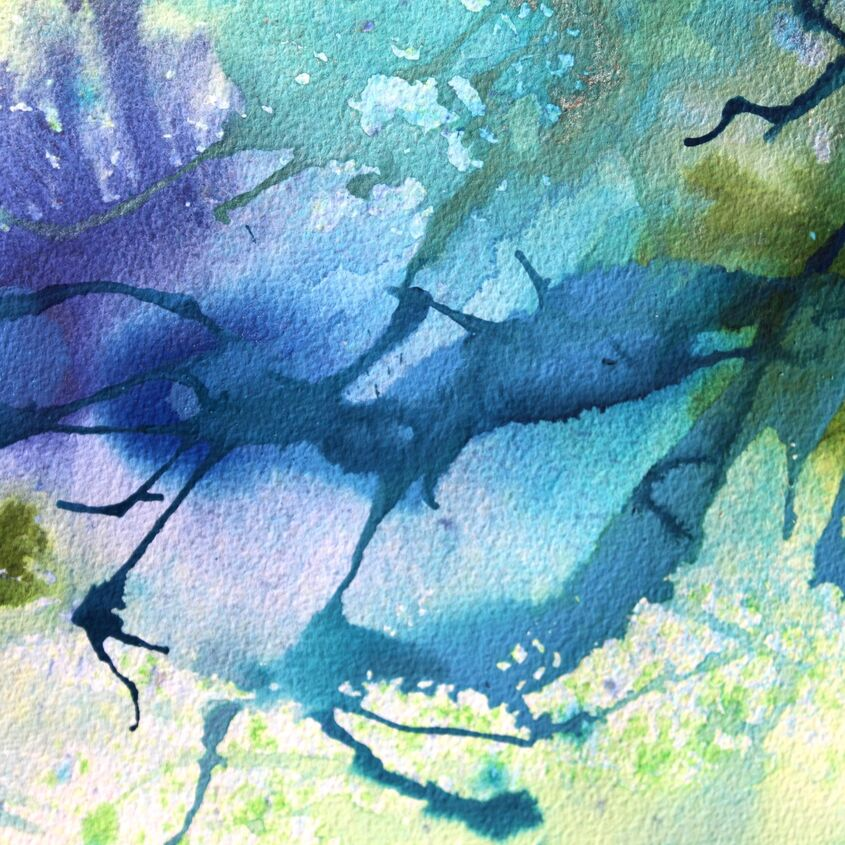 Watercolour abstract blue
